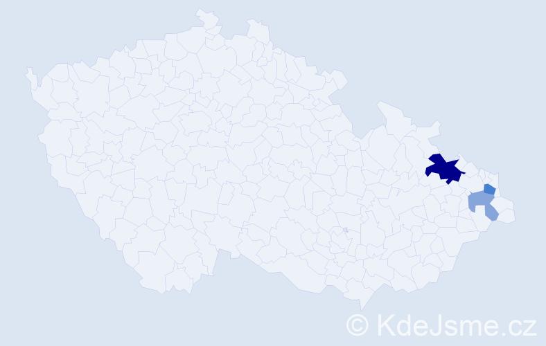 Příjmení: 'Chalupski', počet výskytů 7 v celé ČR