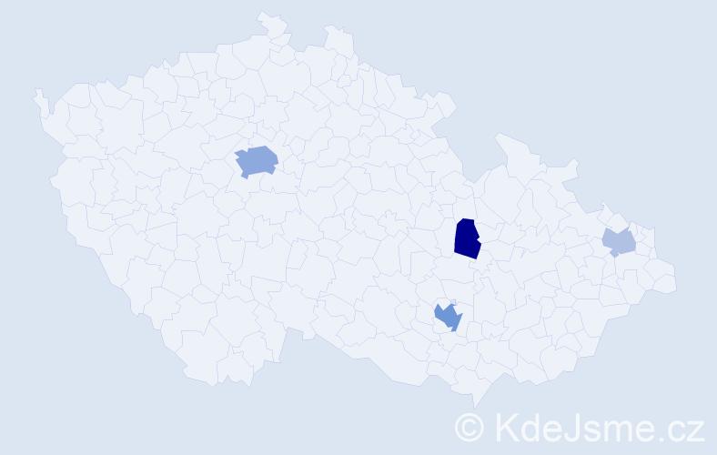 Příjmení: 'Kalhausová', počet výskytů 10 v celé ČR