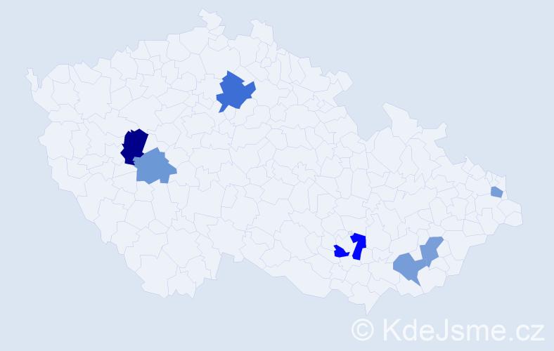 Příjmení: 'Belušková', počet výskytů 10 v celé ČR