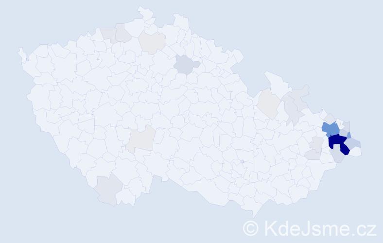 Příjmení: 'Bongilaj', počet výskytů 156 v celé ČR