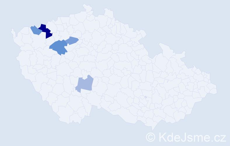 Příjmení: 'Durčiaková', počet výskytů 9 v celé ČR