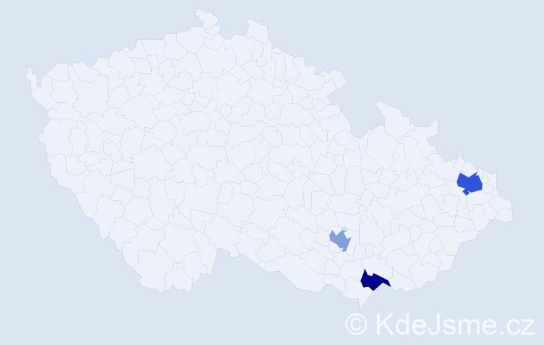 Příjmení: 'Iqbalová', počet výskytů 4 v celé ČR