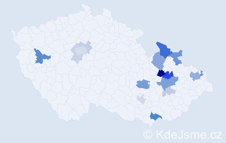 Příjmení: 'Görlichová', počet výskytů 42 v celé ČR