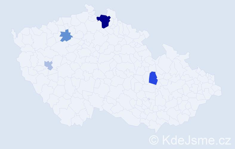 Příjmení: 'Čema', počet výskytů 9 v celé ČR