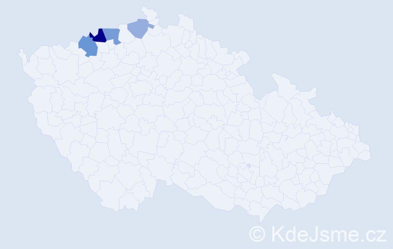 Příjmení: 'Lahmer', počet výskytů 8 v celé ČR