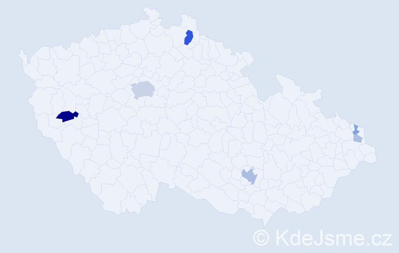 Příjmení: 'Labusová', počet výskytů 15 v celé ČR