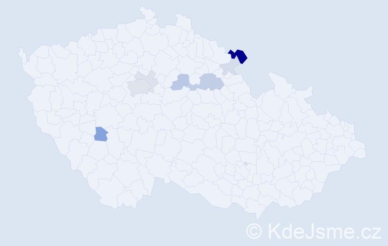 Příjmení: 'Etlíková', počet výskytů 20 v celé ČR