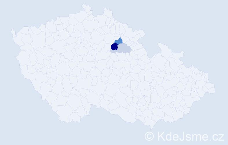 Příjmení: 'Kleňhar', počet výskytů 8 v celé ČR