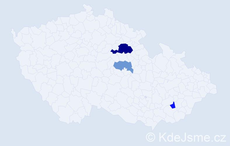 Příjmení: 'Lammr', počet výskytů 6 v celé ČR