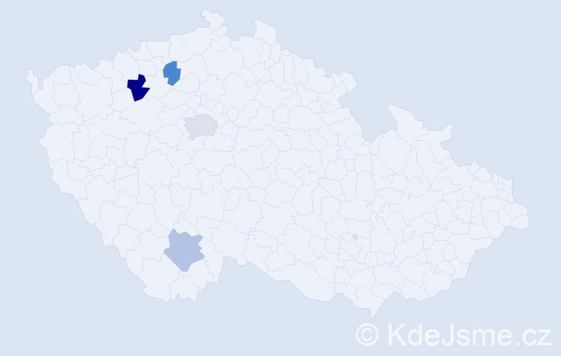 Příjmení: 'Ihnatolová', počet výskytů 6 v celé ČR