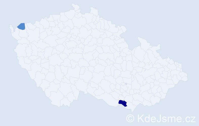Příjmení: 'Halčišák', počet výskytů 4 v celé ČR