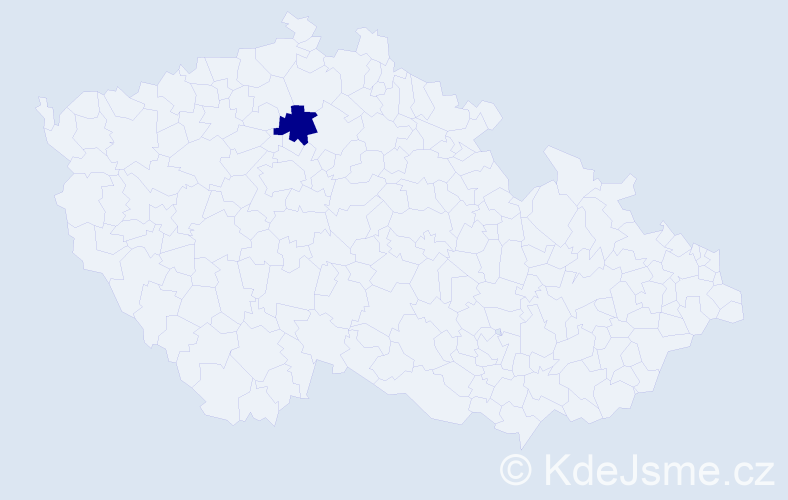 """Příjmení: '""""Cihlářová Zemanová""""', počet výskytů 1 v celé ČR"""