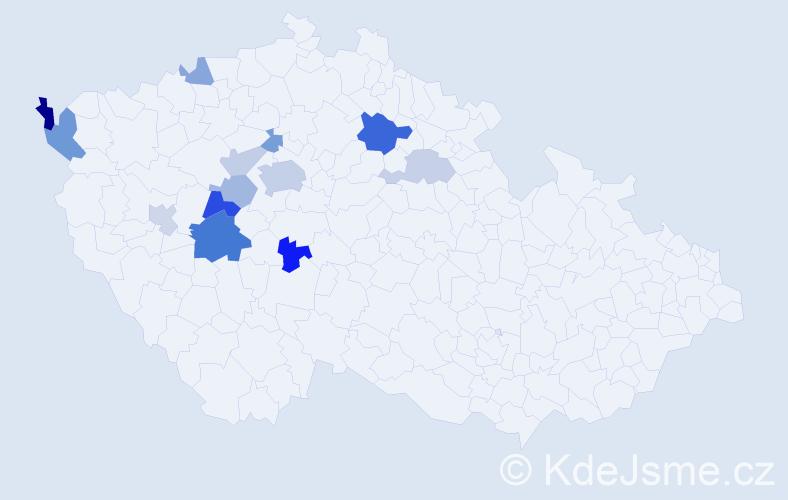 Příjmení: 'Firýt', počet výskytů 27 v celé ČR