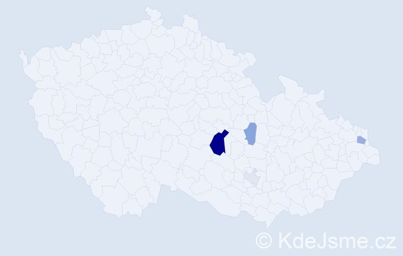 Příjmení: 'Čičátková', počet výskytů 10 v celé ČR