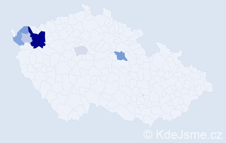 Příjmení: 'Dotzauer', počet výskytů 41 v celé ČR