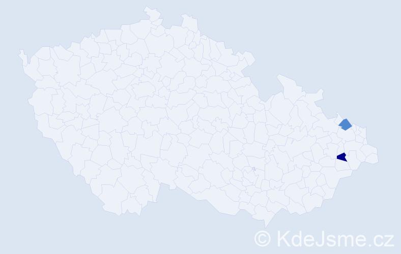 Příjmení: 'Klimovská', počet výskytů 2 v celé ČR