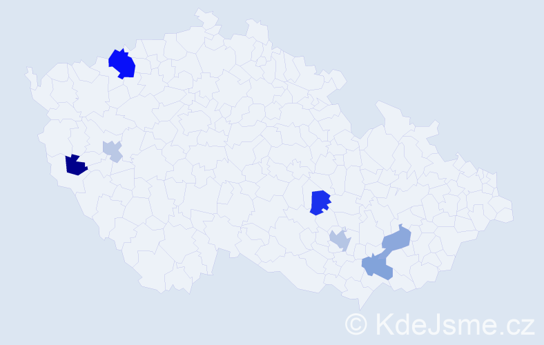 Příjmení: 'Koenig', počet výskytů 11 v celé ČR