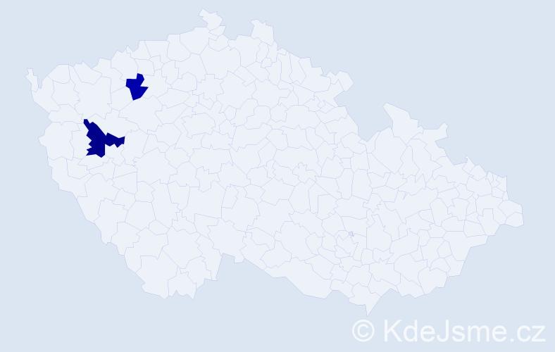 Příjmení: 'Ďurčov', počet výskytů 3 v celé ČR