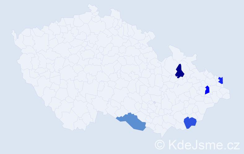Příjmení: 'Halacz', počet výskytů 10 v celé ČR