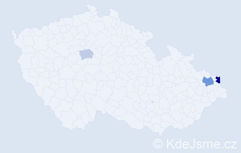 Příjmení: 'Čeplík', počet výskytů 3 v celé ČR