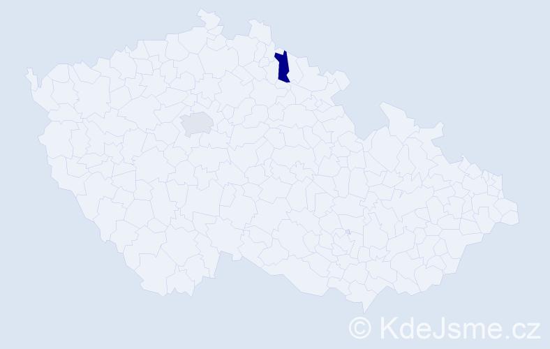 Příjmení: 'Jatšová', počet výskytů 2 v celé ČR