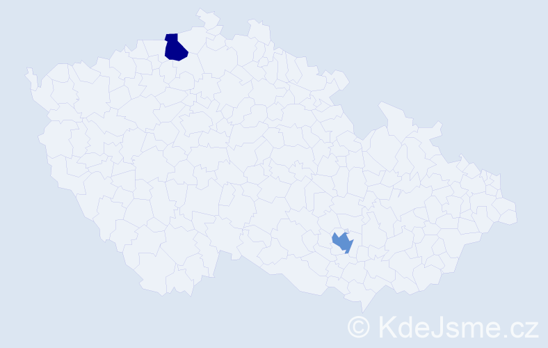Příjmení: 'Brügger', počet výskytů 2 v celé ČR