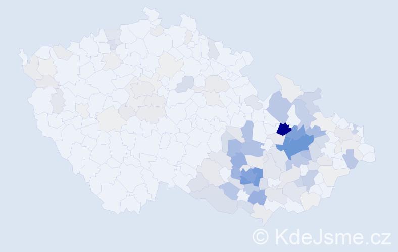 Příjmení: 'Bartoňková', počet výskytů 585 v celé ČR