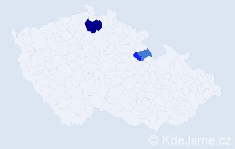 Příjmení: 'Fletcherová', počet výskytů 6 v celé ČR