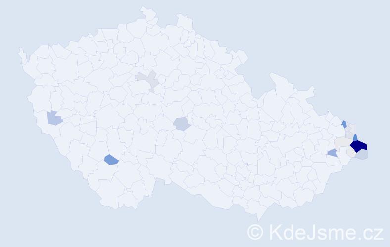 Příjmení: 'Hojdyszová', počet výskytů 60 v celé ČR