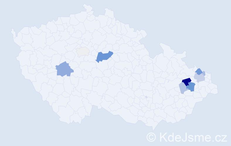 Příjmení: 'Jaborská', počet výskytů 27 v celé ČR