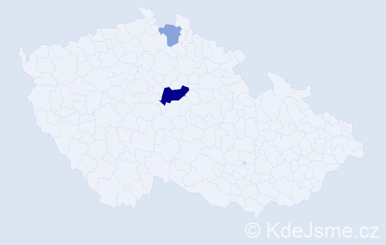 Příjmení: 'Gamkrelidze', počet výskytů 4 v celé ČR