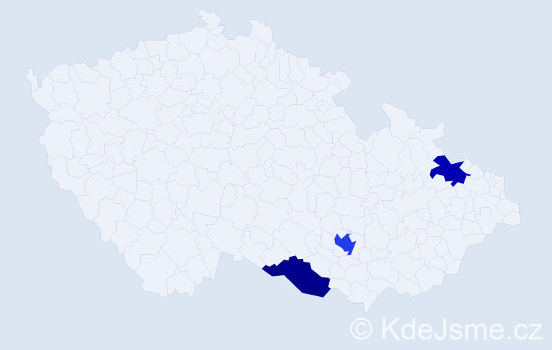 Příjmení: 'Brebánová', počet výskytů 4 v celé ČR