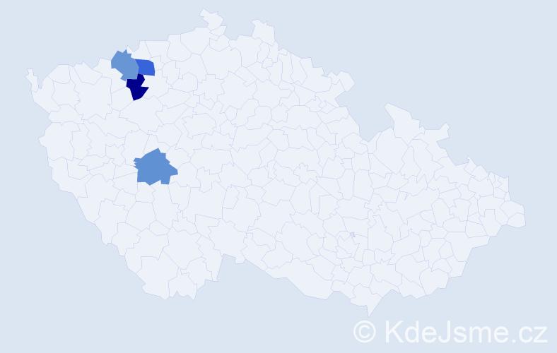 Příjmení: 'Gerstenhöferová', počet výskytů 9 v celé ČR