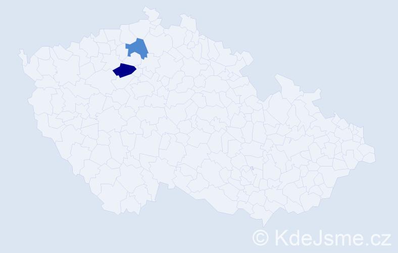 Příjmení: 'Gabštůrová', počet výskytů 7 v celé ČR
