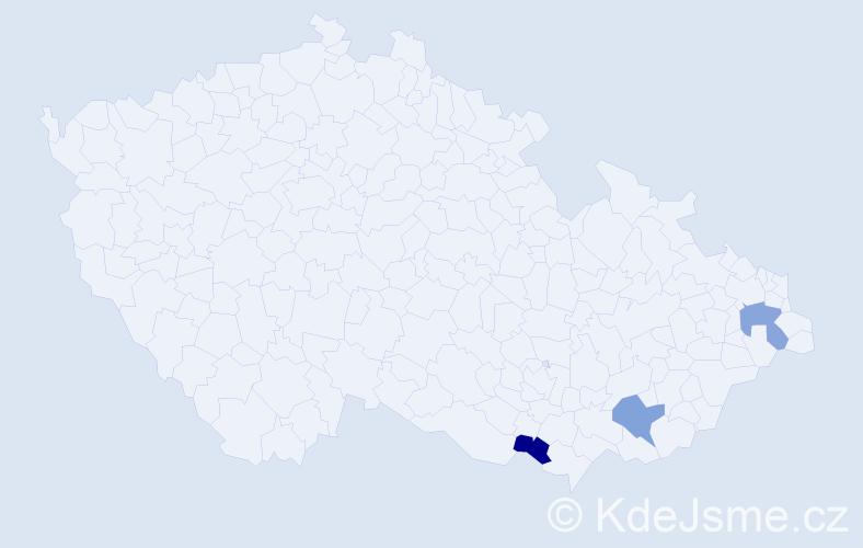 Příjmení: 'Gattinger', počet výskytů 3 v celé ČR