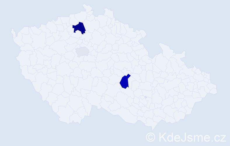 Příjmení: 'Kamenička', počet výskytů 6 v celé ČR