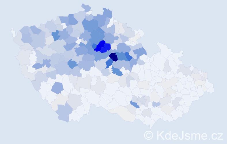 Příjmení: 'Krejčíková', počet výskytů 1417 v celé ČR