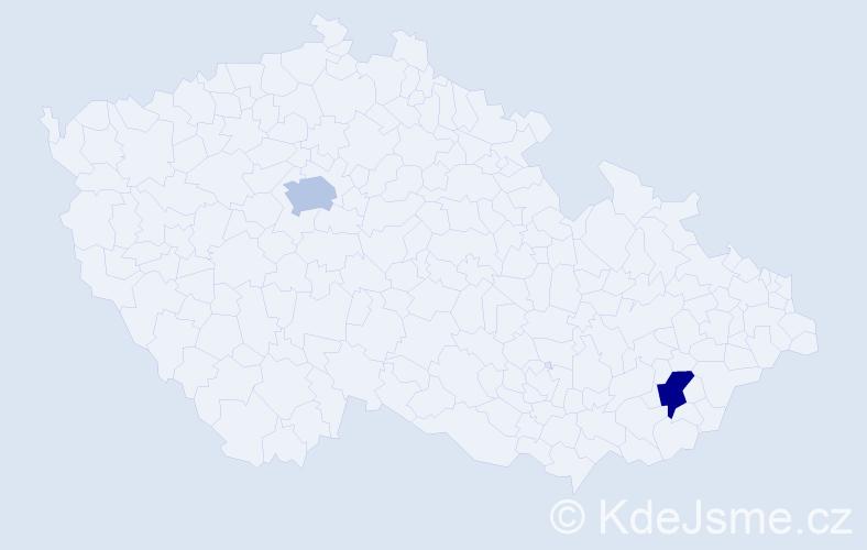 Příjmení: 'Giannone', počet výskytů 4 v celé ČR