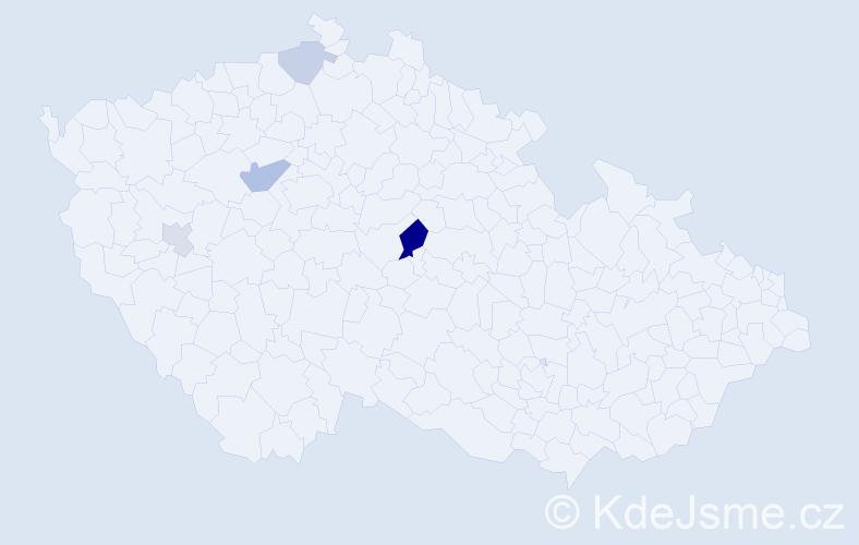 Příjmení: 'Erbalová', počet výskytů 8 v celé ČR