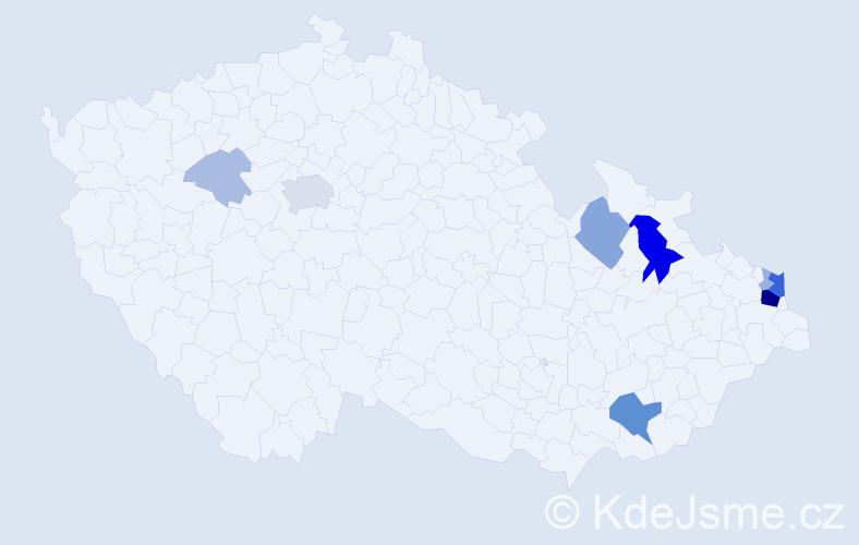 Příjmení: 'Kalisz', počet výskytů 31 v celé ČR