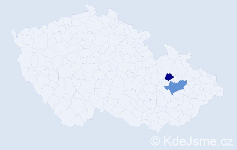 Příjmení: 'Dzurian', počet výskytů 6 v celé ČR