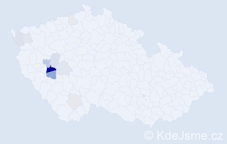 Příjmení: 'Hefertová', počet výskytů 18 v celé ČR