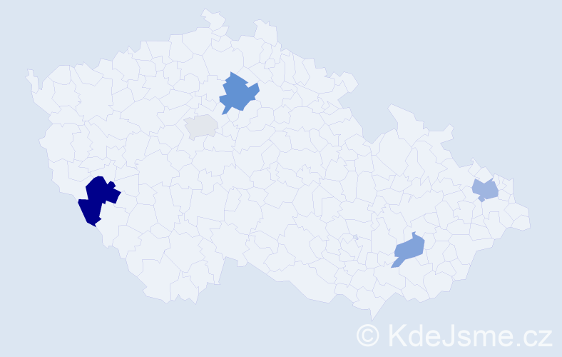Příjmení: 'Basová', počet výskytů 9 v celé ČR
