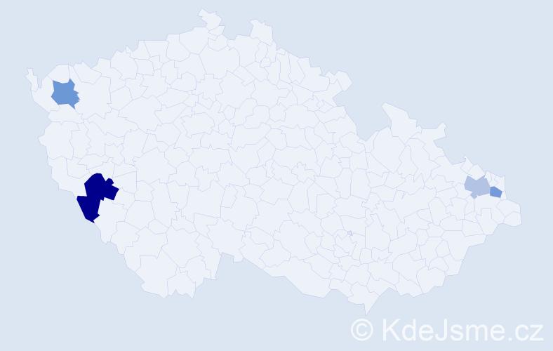 Příjmení: 'Cyránková', počet výskytů 5 v celé ČR