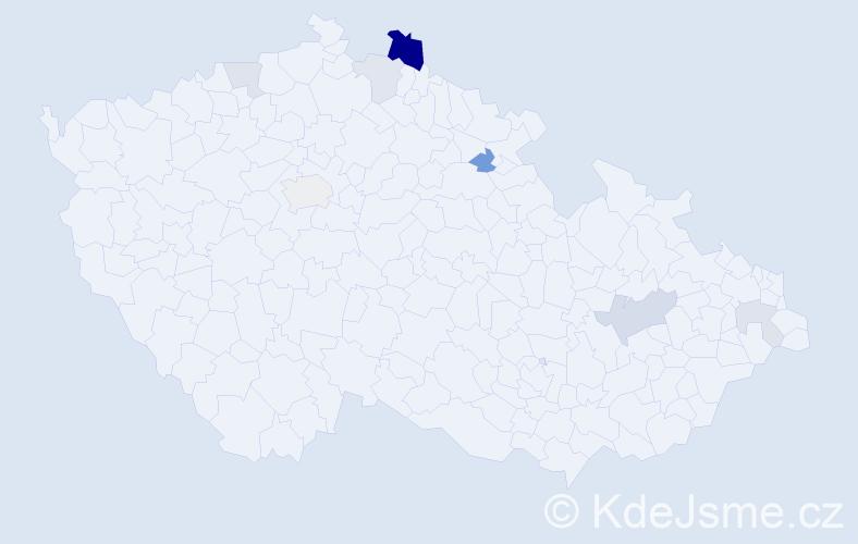 Příjmení: 'Jalovičárová', počet výskytů 17 v celé ČR