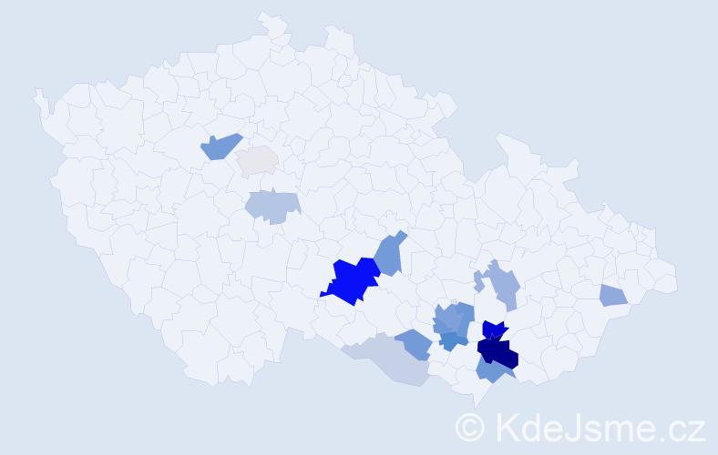 Příjmení: 'Filipenský', počet výskytů 50 v celé ČR