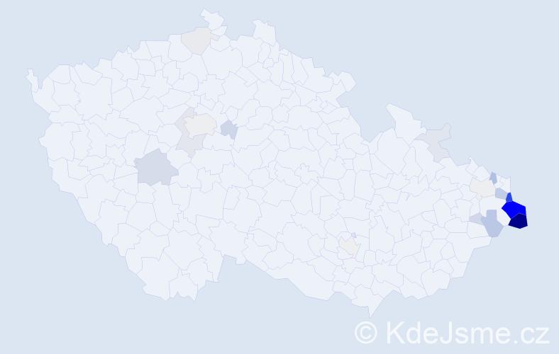 Příjmení: 'Goryl', počet výskytů 89 v celé ČR