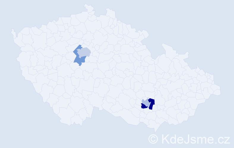 Příjmení: 'Jašinská', počet výskytů 6 v celé ČR