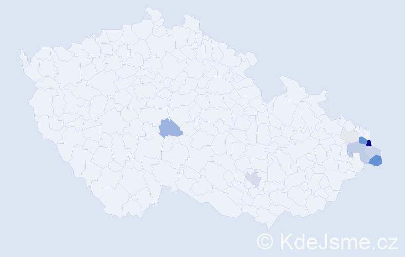 Příjmení: 'Hlisnikowski', počet výskytů 23 v celé ČR