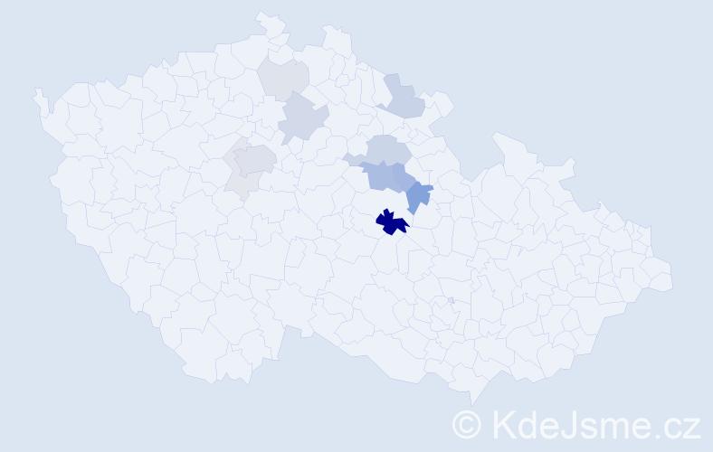 Příjmení: 'Bartalošová', počet výskytů 37 v celé ČR